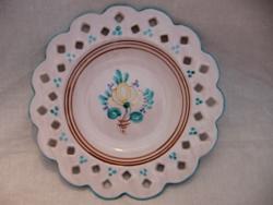 Habán áttört régi Képcsarnokos fali tál , tányér