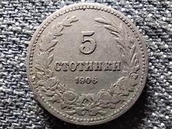 Bulgária I. Ferdinánd (1887-1918) 5 Stotinki 1906 Körmöcbánya! (id43397)