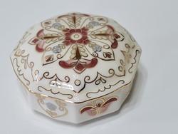Zsolnay nyolcszög alakú bonbonier egyedi mintával