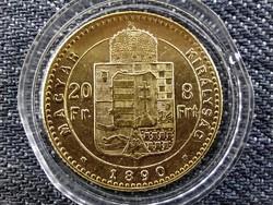 Ferenc József .900 arany 8 Forint 1890 KB Fiume R! (id21430)