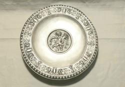 Ezüst puttos asztalközép kínáló, díszes talpas tál 408 gramm