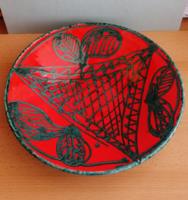 Dekoratív Péter Mária kerámia tányér 2