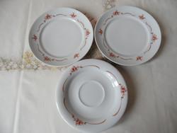 Retro porcelán Alföldi kistányér ( 3 db. )