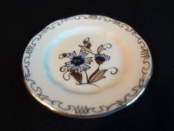 Zsolnay porcelán búzavirág mintás gyűrűtartó tálka