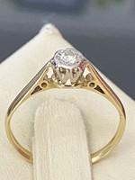 18 karátos arany, gyémánt, platina gyűrű
