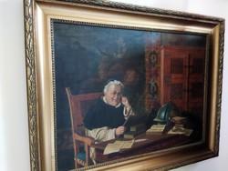 Ludwig Valenta--  Antik kép(75×50cm  + keret)