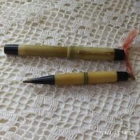 Kis méretű, női Melbi aranyhegyű töltőtoll-ceruza készlet Rikaság!