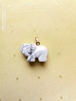 Howlit medál - elefánt alakú - ÚJ