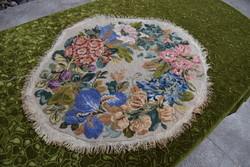 Antik virág mintás gobelin asztal terítő asztal közép gobelin betét nagy terítőhöz 79 x 67 cm