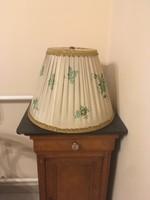 Nagy méretű herendi zöld Apponyi mintás lámpaernyő .