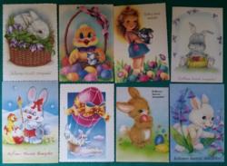 8 darab nagyon szép  húsvéti képeslap,futottak