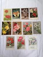 Virágos üdvözlőlapok 11 db