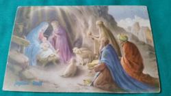 Régi,külföldi,vallási,karácsonyi képeslap