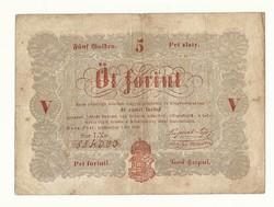 1848 as 5 forint Kossuth bankó papírpénz bankjegy 48 49 es szabadságharc pénze sor L X o
