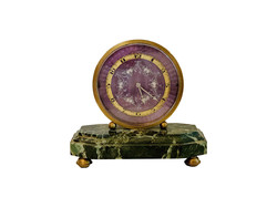 Art Deco table clock 1920-1930 Gübelin with sound system, 8 Jours, Sonnerie and mouvement