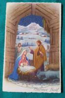 Régi,külföldi, vallási, karácsonyi képeslap