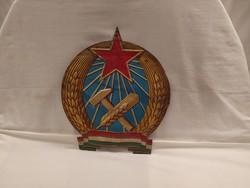 1,-Ft Ritka Nagyméretű fém Rákosi Címer tábla