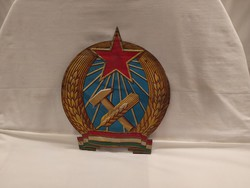 Nagyméretű fém Rákosi Címer tábla