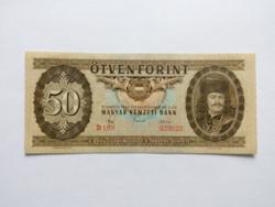 """50 forintos papirpénz 1965  """"D""""  UNC"""