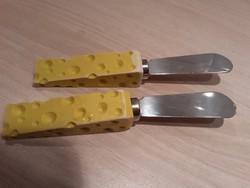 Reggeliző kés, vajazó kés, sajtkés 2db