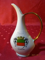 Bavaria német porcelán kiöntő, karaffa, Helgoland címerével.