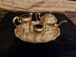 Antik ezüst bámulatos teás készlet! 3000 Gr.