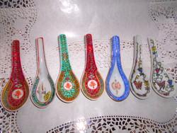 7 db kínai porcelán kanál kézzel festett  500 Ft/db