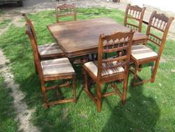 Ónémet asztal szék hat darab étkező garnitúra