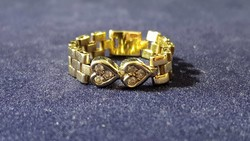 Nagyon szép, 14 K lánc arany gyűrű
