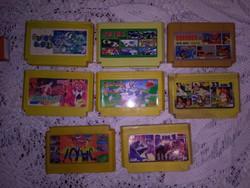 Retro TV játék NINTENDO - nyolc darab együtt
