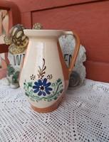 Virágos Kun Gazda Karcag kerámia szilke köcsög nosztalgia paraszti  falusi dekoráció