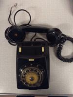 CB667 retró fekete telefon