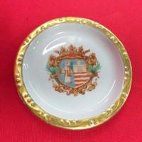 Zsolnay Címeres,Aranyozott szegéllyel Kis tál,Tál,Tányér 8.5 cm.