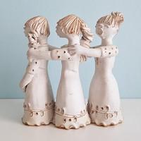 Kovács Éva Éneklő lányok három alakos kerámia figura
