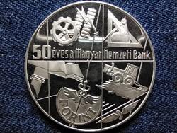 50 éves a Magyar Nemzeti Bank .640 ezüst 100 Forint 1974 BP PP (id49377)