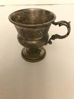 Csésze ezüstözött réz