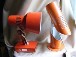 2 db retro lámpa - Szarvasi csőlámpa és Elektrofém fali lámpa
