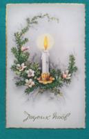 Szép,karácsonyi,külföldi képeslap 1960 - futott