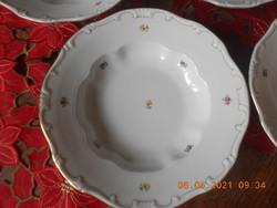 Zsolnay szórt virág mintás mély tányér