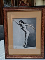 Női akt - Festmény