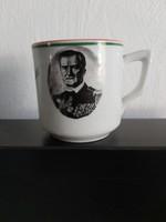 Horthy Miklós kávéscsésze