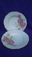 2.db antik hibátlan rózsás Zsolnay tányér
