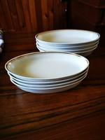 8 db Alföldi porcelán aranyszegélyes ovális tányér