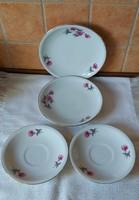 Alföldi porcelán 2 db kistányér, 2 db teáscsészealj