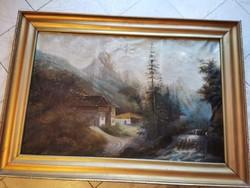 Nagyméretű Németh - Osztrák - Olaj vászon festmény