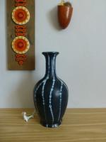 Extrém ritka,retro,vintage nagyméretű Tófej kerámia kék váza