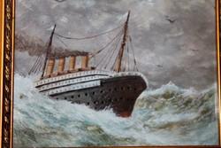Antik hajós festmény 159