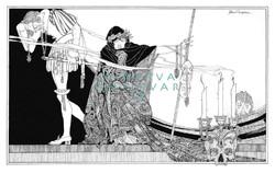 Shakespeare Hamlet dráma könyv illusztráció reprint nyomat J. A. Austen 1922 koponya gyertya maszk