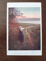 Régi 1921 képeslap vintage levelezőlap