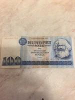 Kelet német bankjegy, régi, Marx képével, 1975